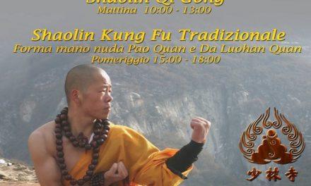 Stage Shaolin Kung Fu e Shaolin Qi Gong – Milano il 19 febbraio 2017