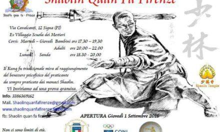 Ti aspettiamo per una prova gratuita! – Shaolin Quan Fa Firenze