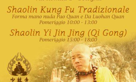 Stage Shaolin Quan Fa a Bologna presso il centro sportivo Dozza – 9 Aprile 2017